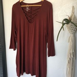 Maurices Brown Tunic Top XXL